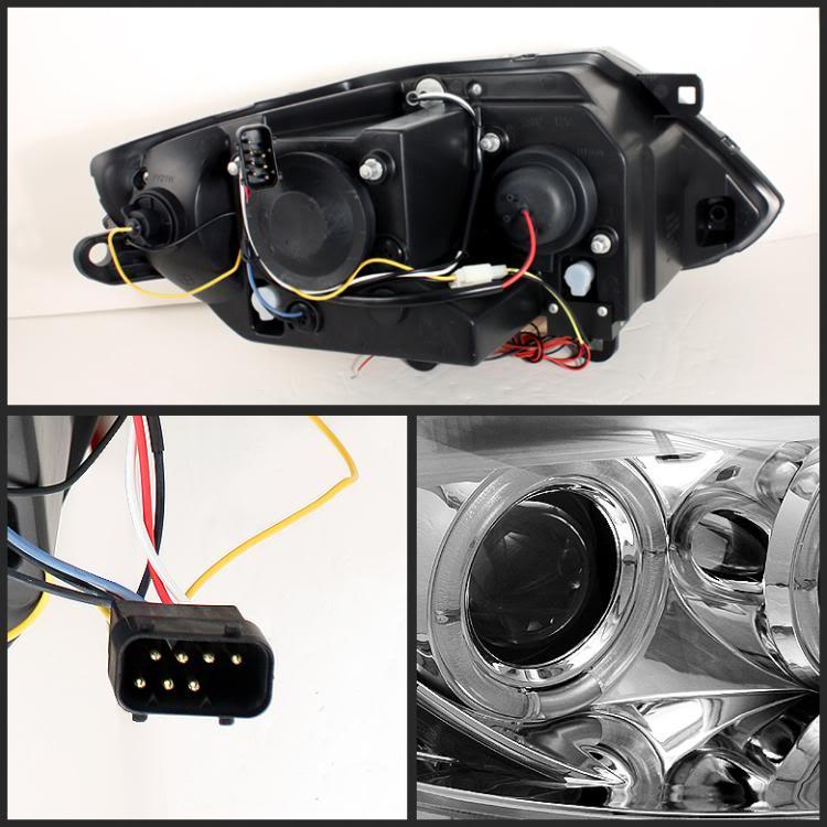 Bmw Z4 Xenon Headlights: 03-08 BMW Z4 HALO PROJECTOR HEADLIGHTS FOR HID BLACK 04
